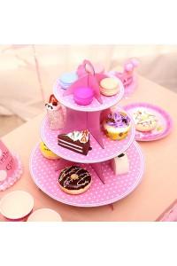Alzatina per dolci pasticcini colori a scelta in cartone festa party decorazioni