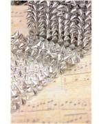 1mt rete - nastro di borchie a cono 10mm in resina da cucire o incollare