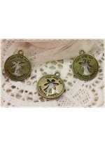 "4pz medaglia ""you are my specialal angel"" color bronzo 18*18mm charm ciondolo"