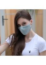 Mascherina in tessuto lavabile e riutilizzabile colori a scelta lacci regolabili