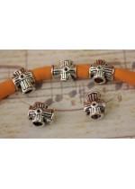 10pz separatore/distanziatore a forma di croci charms braccialetto fettuccia