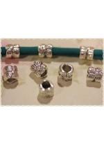 10pz separatore/distanziatore forma di margherita charms braccialetto fettuccia