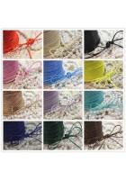 Cordino corda filo in cotone cerato spess. 2mm per creare bijoux colori a scelta