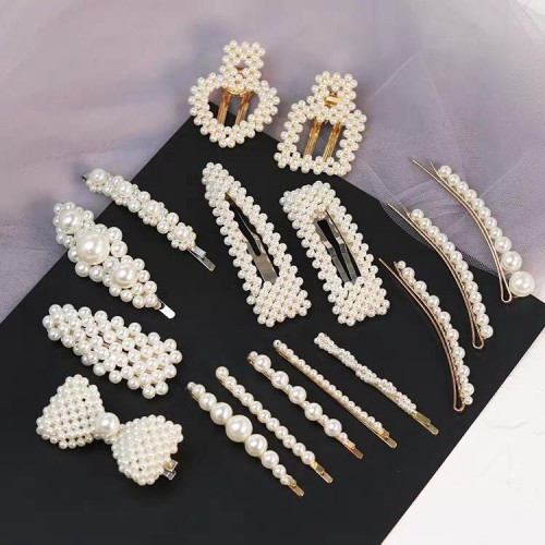 haute couture économiser magasiner pour l'original Mollette per capelli PERLE PERLINE perla bianco varie forme ...