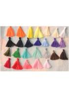 Nappine in cotone realizzate a mano creare bijoux colori scelta circa 3cm