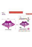 Palloncino gonfiabile forma BACIO KISS ME colore ROSSO decorazioni festa party