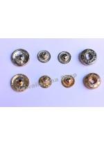 Set Bottoni automatici a pressione in OTTONE diametro 15mm colori e quantità a scelta