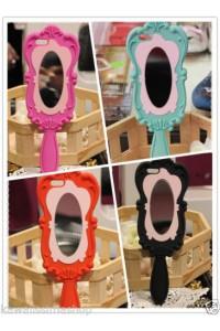 Cover morbida a forma di specchio colori a scelta per Iphone 5 e 5s