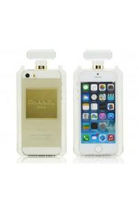 Cover in silicone colore trasparente forma profumo bottiglia con catena