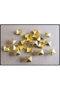 Borchie a piramide alette diametro 12mm colore oro