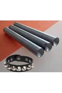 Punzone per applicazione manuale borchie a cono con rivetto diametro da 6mm -12mm