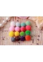 50pz mini pon pon morbido in nylon diametro circa 8-10mm colori a scelta per bijoux